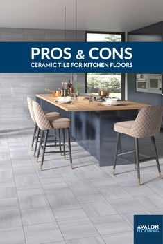 If you're thinking about installing a new kitchen floor, tile might be the first option that comes to mind. Ceramic tile is a classic choice for the kitchen. It not only looks elegant and clean, but it's also very easy to maintain and durable. The versatility offered by tiles almost guarantees that you'll find a style that suits your kitchen floor ideas. Get all the pros and cons to using ceramic tile on your kitchen floors on our Blog!