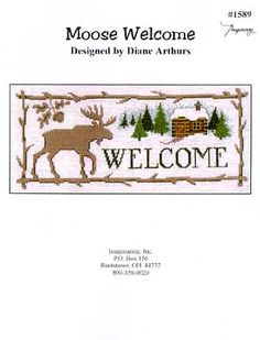 Moose Welcome - Cross Stitch Pattern