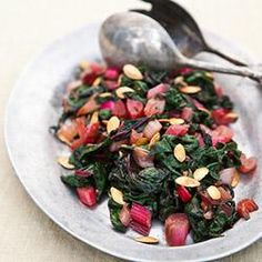 Rainbow Chard with Squash Seeds by Annie Somerville, Greens Restaurant http://www.cuesa.org/recipe/rainbow-chard-squash-seeds