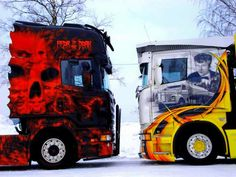 Truck Paint, Cab Over, Cool Paintings, Semi Trucks, Cool Trucks, In A Heartbeat, Rigs, Tractors, Scandinavian