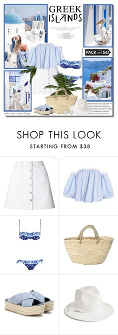 """""""Pack and Go: Greek Islands"""" by lilly-2711 ❤ liked on Polyvore featuring Miss Selfridge, Dolce&Gabbana, Miu Miu, Halogen and Christian Dior"""