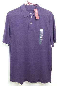 Mens Merona The Ultimate Pique Polo Shirt Wood Violet Size Medium #Merona #PoloRugby