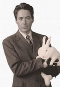 Robert Downey Jr. & Rabbit.    Chumley could totally be friends with him.