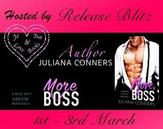 More Boss A Bad Boy Office Romance by Juliana ConnersRELEASE BLITZ  Hosted by Jo&Isalovebooks Blog  My boss wants to spank me until Im red all over. And I want to let him!  Katie:  Damien Hudson was only supposed to take me on a date. He wasnt supposed to take my virginity. I wasnt supposed to let him. And I definitely wasnt supposed to like it.  Now hes my boss so my boring job has just gotten a lot more exciting. I know Im being a bad girl but I also know that my older more experienced and…