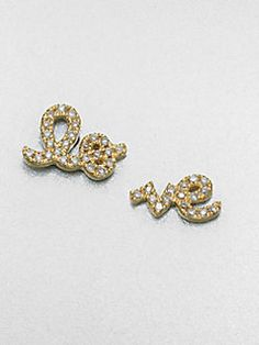 Sydney Evan - Diamond & 14K Gold Love Stud Earrings