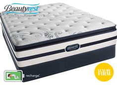 Chantal Luxury Firm Pillow Top Simmons Beautyrest Recharge - Berrios te da más