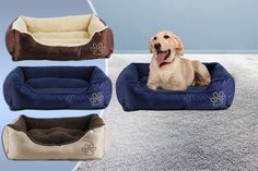 for a small deluxe soft dog bed, for a medium bed, for a large bed or for an extra-large bed - choose from three colours and save up to Xxl Dog Beds, Dog Beds For Small Dogs, Large Beds, New Beds, Medium Dogs, Take A Nap, Cool Things To Buy, Stuff To Buy, Birmingham