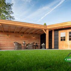 Overkapping Beneden Leeuwen  van Viegen Handelsonderneming Backyard Pavilion, Backyard Seating, Backyard Patio, Garden Projects, Diy Projects, Pool Shed, Carport Garage, Outdoor Structures, Architecture