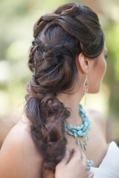 Knotted Braided Wedding Hairstyle
