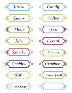 Seed To Sprout Design:  Free Printable pantry labels....plus more, like invites and such