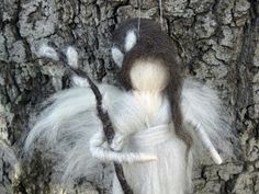 Needle Felted Waldorf Pussy Willow Flower Fairy by thewoolengnome, $28.00