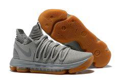Nike KD 10 Authentic Pale Grey Light Bone Gum - Click Image to Close