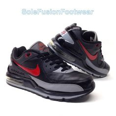 separation shoes 58b42 d9fa3 Nike Mens Air Max Ltd Leather Trainers Black red Sz 9 RARE SNEAKERS US 10  EU 44 for sale online   eBay