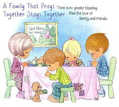 ♥ This is so true! We pray together every day! love my family! God has blessed me with a great husband two girls and a son! Precious Moments Quotes, Precious Moments Figurines, Moment Quotes, Sarah Key, Crochet Humor, Love My Family, Monster High Dolls, Tissue Box Covers, My Precious