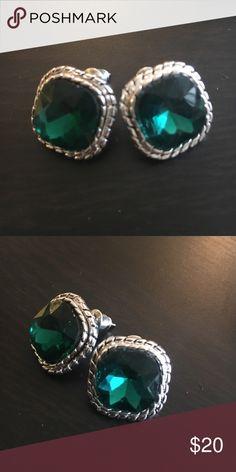 Emerald earrings Emerald earrings, never worn. Jewelry Earrings