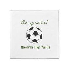 soccer team napkins