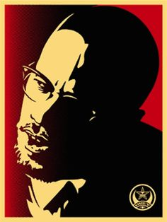 SHEPARD FAIREY - Malcolm X Red -  2006 -  Screenprint -  24 x 18 in. -  Edition of 200 -  Pencil signed and numbered - Contact us at info@gsfineart.com or call us at 305-456-5478