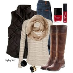 """Tan & Black"" by taytay-268 on Polyvore by thelma"