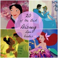 "Babble's ""20 of the Best Disney Love Quotes"" #Disney #inspired #lovequotes"