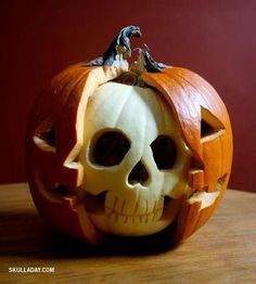 pumpkin skulled