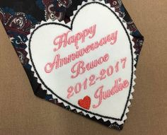 ANNIVERSARY Tie Patch - Anniversary Gift for Him, Husband Gifts, Iron-On Patch, Sew-On Patch, Tie Patch, Happy Anniversary, Gift for Husband #anniversarygiftsforhim #husbandgifts #anniversarytiepatch #anniversarygiftsformen