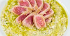 Recette de Pavé de thon grillé et risotto de courgettes pas cher au parmesan. Facile et rapide à réaliser, goûteuse et diététique.