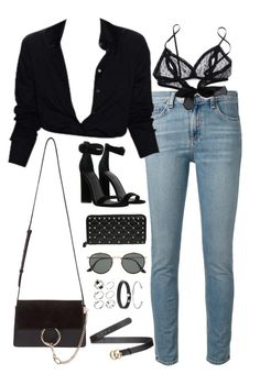 A fashion look from August 2017 featuring cut skinny jeans, lace bralette bra and kendall kylie shoes. Browse and shop related looks. Boujee Outfits, Cute Swag Outfits, Retro Outfits, Classy Outfits, Stylish Outfits, Winter Outfits, Summer Outfits, Fashion Outfits, Outing Outfit