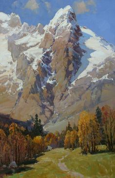 61 Ideas Painting Oil Mountains Canvases For 2019 Canvas Painting Designs, Oil Painting Gallery, Canvas Art Projects, Acrylic Painting Canvas, Classic Paintings, Great Paintings, Landscape Art, Landscape Paintings, Landscapes