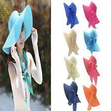 Floppy Wide Brimmed Summer Beach Hat Sun Hat Women's Fashion Beach Hat Cap NEW