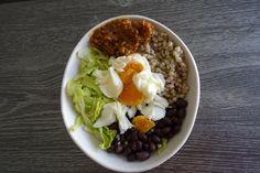 Black bean and buckwheat bowl Buckwheat, Black Beans, Acai Bowl, Tasty, Breakfast, Ethnic Recipes, Kitchen, Food, Acai Berry Bowl