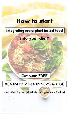 Do you like to start integrating more plant-based meals into your diet? With this free Vegan for Beginners Guide it is possible! Free vegan meals, desserts and breakfasts for you to try and start your health journey. #recipes #healthy #lifestyle #nutition