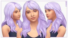 Ribbon Hair (Maxis Match - LOTS Of Colors - NOT Hat Compatible) - created by WildlyMinitureSandwich