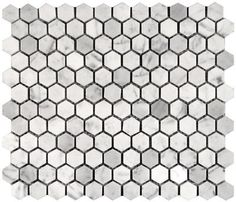 hexagonal penny round tiles... For the shower in the kids bathroom