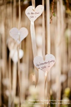 White Seed Paper Heart Tag/Favors - 50 count - 3 inch. $45.00, via Etsy.