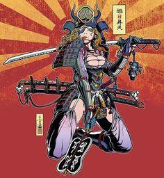 ARTIST: Motohiro Ichinomiya aka Motoichi69 (Japan) | via: #Yellowmenace | The samurai creations of 40 brilliant artists  + http://yellowmenace8.blogspot.com/2015/05/art-samurai-inspired.html
