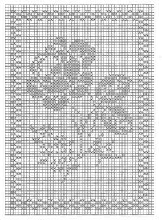 Gallery.ru / Фото #13 - Схемки 2 - anasneg Crochet Tablecloth Pattern, Crochet Doily Patterns, Crochet Doilies, Crochet Stitches, Crochet Roses, Cross Stitch Fruit, Cross Stitch Rose, Cross Stitch Embroidery, Cross Stitching