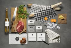 Here is a simplebranding, without pretension for Coor restaurant by the swedish studioWe Are Bold. A simple identity with few patterns and support with a nice photographic series.