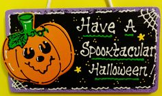 Have A SPOOKTACULAR HALLOWEEN Sign Pumpkin Decor Fall Jack-O-Lantern Plaque #HandcraftedbyMillerFamilyWoodcrafts