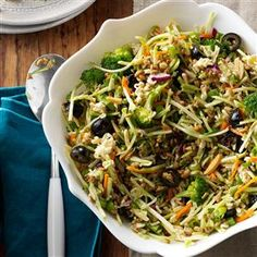 Nutty Broccoli Slaw - I love all the ingredients, except for the ramen seasoning packet (too much sodium) so I'll look into using a different dressing.