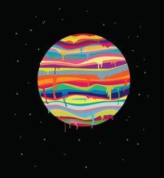 Best Illustration Joevw Color Space images on Designspiration Claude Monet, Surreal Collage, Space Images, Illustrations, Light Art, Graphic Design Inspiration, Digital Illustration, Space Illustration, Psychedelic