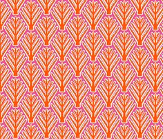 Pink trees fabric by tukkki on Spoonflower - custom fabric