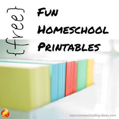Fun Free Home School Printables -  going on a road trip? Take along some printables for educational fun.