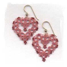 Tatted Heart Earrings