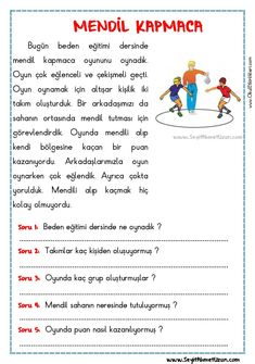 Turkish Lessons, Learn Turkish, Turkish Language, Reading Passages, Primary School, Kids Education, Eminem, Preschool, Drama