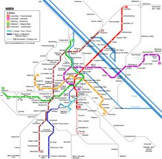 Vienna U-Bahn Map © UrbanRail.Net