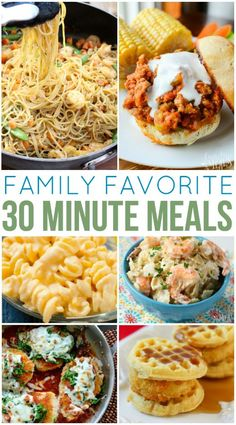 Family Favorite 30 Minute Meals you can whip up in no time flat! Family Favorite 30 Minute Meals - It is important to have an arsenal of quick and easy meals. Here is a list of some of our Family Favorite 30 Minute Meals you can whip up in no time flat! Family Fresh Meals, Easy Family Dinners, Fast Dinners, Cheap Dinners, Quick Easy Meals, Easy Dinner Recipes, Cheap Family Meals, Healthy 30 Minute Meals, Quick Summer Meals