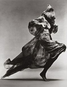 Photograph by Richard Avedon.  Model is Jean Shrimpton. Evening dress by Cardin. Paris Studio, January 1970.