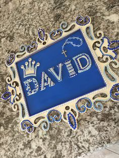 Baby David Nursery Name Plate Ready For Baptism Labor Of Love