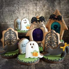 Linda's Halloween Cookies Idea...just a picture, but beautiful