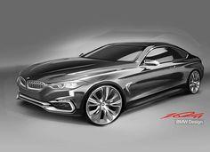 BMW 4 Series Coupe sketch by Won-Kyu Kang #cardesign #carsketch #car #design #sketch #bmw #bmwclub #drawing
